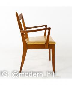 Mid Century Walnut Dining Chairs Set of 6 - 1810386