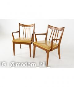 Mid Century Walnut Dining Chairs Set of 6 - 1810389