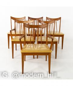 Mid Century Walnut Dining Chairs Set of 6 - 1810390