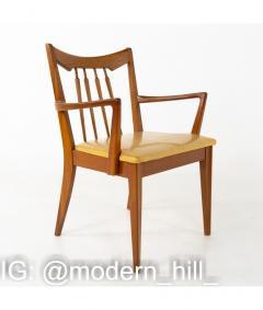 Mid Century Walnut Dining Chairs Set of 6 - 1810392