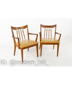Mid Century Walnut Dining Chairs Set of 6 - 1810400