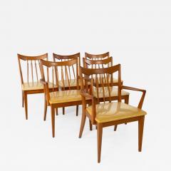 Mid Century Walnut Dining Chairs Set of 6 - 1812770
