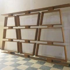 Mid Century Wood Room Divider Shelves - 1063919