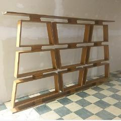 Mid Century Wood Room Divider Shelves - 1063920