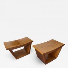 Mid Century Wood Stools by Fratelli Rigamonti Italy 1950s - 2134524