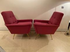 Mid Century pair of Armchairs in fuchsia colour - 1954143