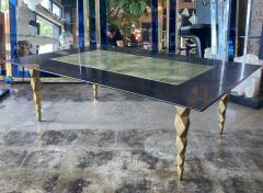 Mid century modern Marble and brass Coffee table Italy 1970s - 2063161