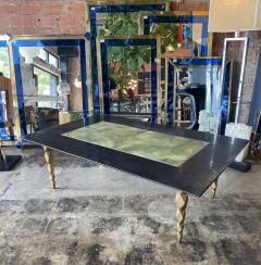 Mid century modern Marble and brass Coffee table Italy 1970s - 2063163