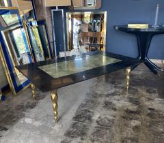 Mid century modern Marble and brass Coffee table Italy 1970s - 2063166