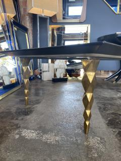 Mid century modern Marble and brass Coffee table Italy 1970s - 2063168