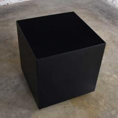 Mid century modern black painted cube cabinet end or side table - 1900209