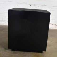 Mid century modern black painted cube cabinet end or side table - 1900210