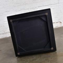 Mid century modern black painted cube cabinet end or side table - 1900215