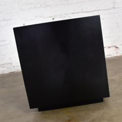 Mid century modern black painted cube cabinet end or side table - 1900225