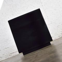 Mid century modern black painted cube cabinet end or side table - 1900237