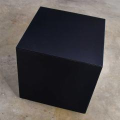 Mid century modern black painted cube cabinet end or side table - 1900239