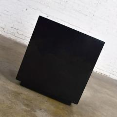 Mid century modern black painted cube cabinet end or side table - 1900268