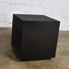 Mid century modern black painted cube cabinet end or side table - 1900284