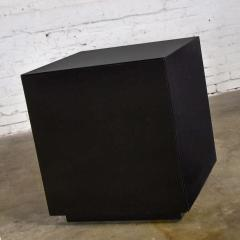 Mid century modern black painted cube cabinet end or side table - 1900294