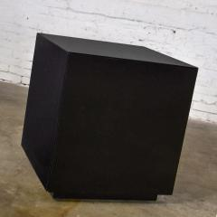 Mid century modern black painted cube cabinet end or side table - 1900306