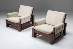 Mid century modern solid Mahohany pair of clubs 1960s - 1480896