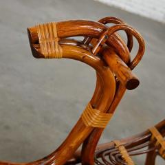 Mid century modern stylized rattan rocking horse - 2066162