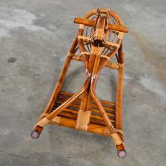 Mid century modern stylized rattan rocking horse - 2066165