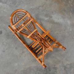 Mid century modern stylized rattan rocking horse - 2066167