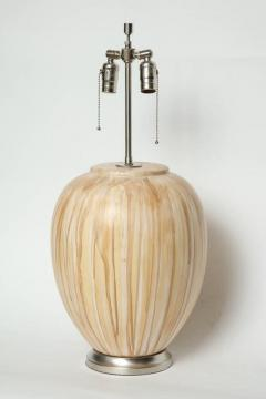 MidCentury Tan Drip Glazed Ceramic Lamps - 1956298