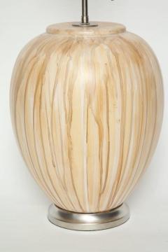 MidCentury Tan Drip Glazed Ceramic Lamps - 1956299