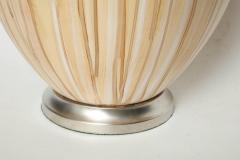 MidCentury Tan Drip Glazed Ceramic Lamps - 1956309