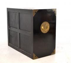 Midcentury Black Lacquered Asian Campaign Chest - 635217