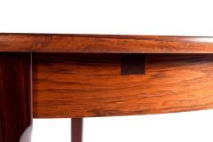 Midcentury Danish Rosewood Dining Table with Two Hidden Leaves - 1611228
