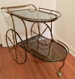 Midcentury Italian Brass Bar Cart - 1738031