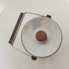 Midcentury Modern CULTURA Ice Bucket Stainless Steel w Walnut Wood Sweden 1960s - 1544351