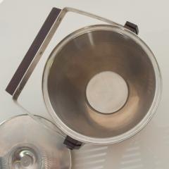 Midcentury Modern CULTURA Ice Bucket Stainless Steel w Walnut Wood Sweden 1960s - 1544352