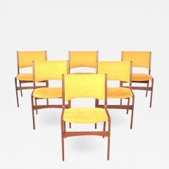 Midcentury Set of Six Teak Dining Chairs Denmark - 1612454