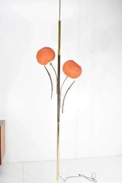 Midcentury Tension Pole Lamp with Spun Fiberglass Shades - 1271752