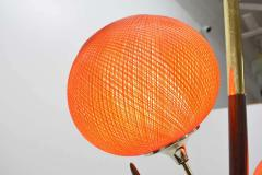 Midcentury Tension Pole Lamp with Spun Fiberglass Shades - 1271755