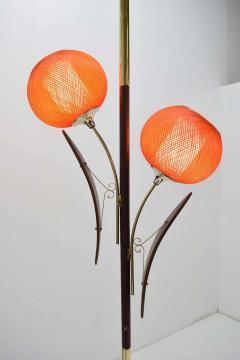 Midcentury Tension Pole Lamp with Spun Fiberglass Shades - 1271758