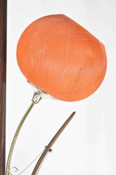 Midcentury Tension Pole Lamp with Spun Fiberglass Shades - 1271760