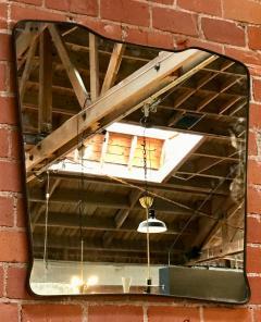 Midcentury Wall Mirror Brass Frame Minimal Design 1950s - 1251717