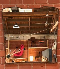 Midcentury Wall Mirror Brass Frame Minimal Design 1950s - 1251722