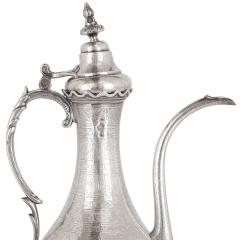Middle Eastern silver ewer and basin - 1954727