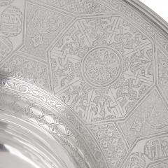 Middle Eastern silver ewer and basin - 1954728