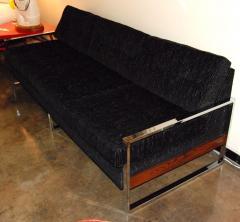 Milo Baughman 1960s Chrome Plated Sofa By Milo Baughman - 127067
