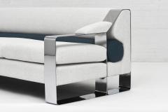 Milo Baughman 1970 s Chrome Sofa Extra Wide Flat Bar - 1911325