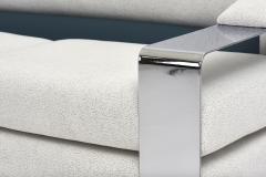 Milo Baughman 1970 s Chrome Sofa Extra Wide Flat Bar - 1911332