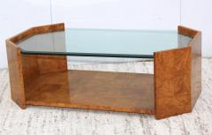 Milo Baughman 1970s Mid Century Modern Burl wood Coffee Table - 1121196