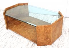 Milo Baughman 1970s Mid Century Modern Burl wood Coffee Table - 1121198